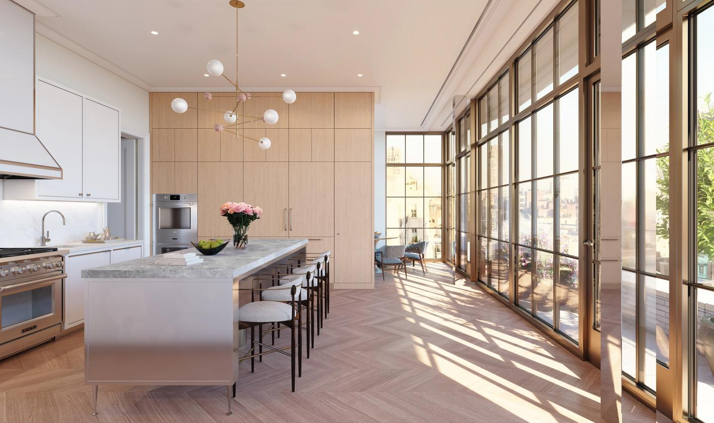 Penthouse 20 kitchen with adjacent breakfast area