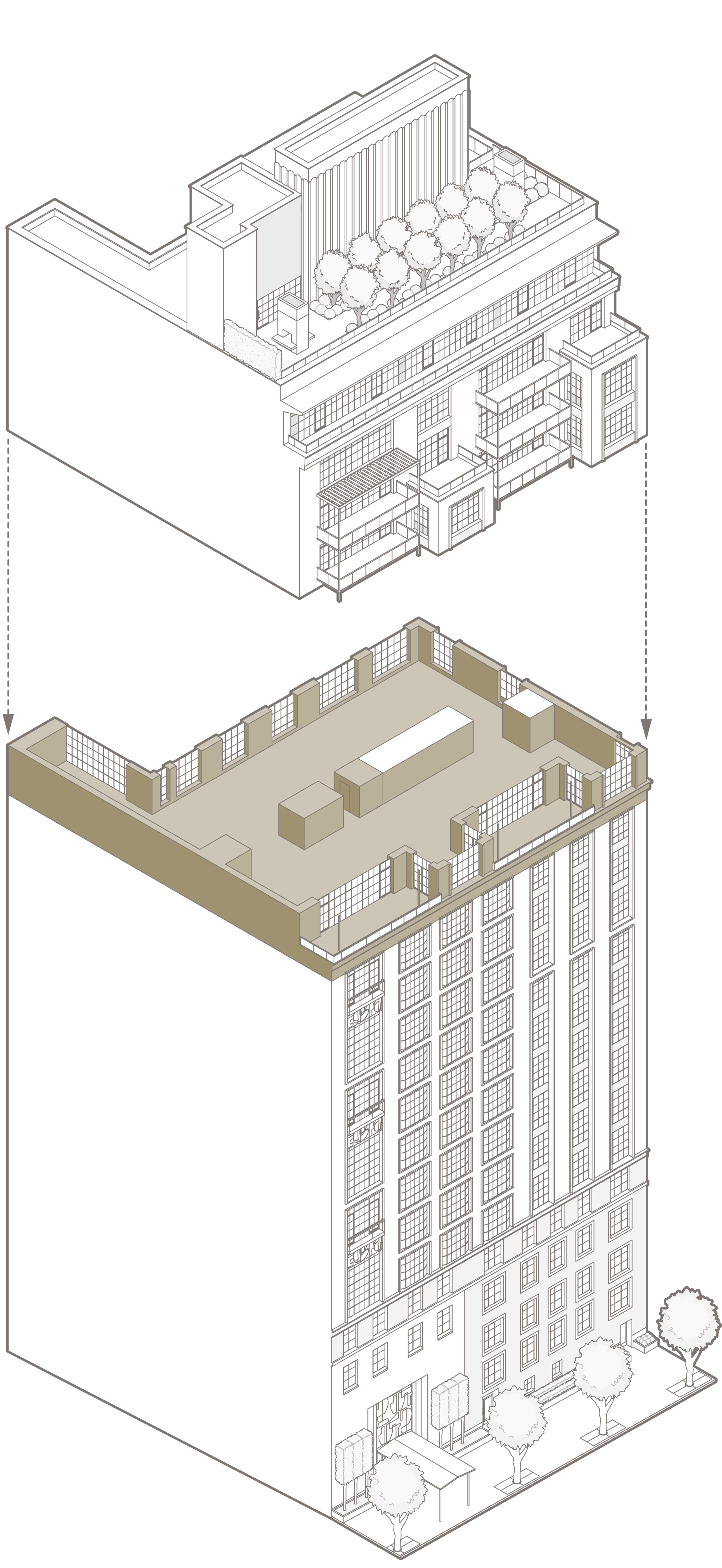 Penthouse 16 – South elevation