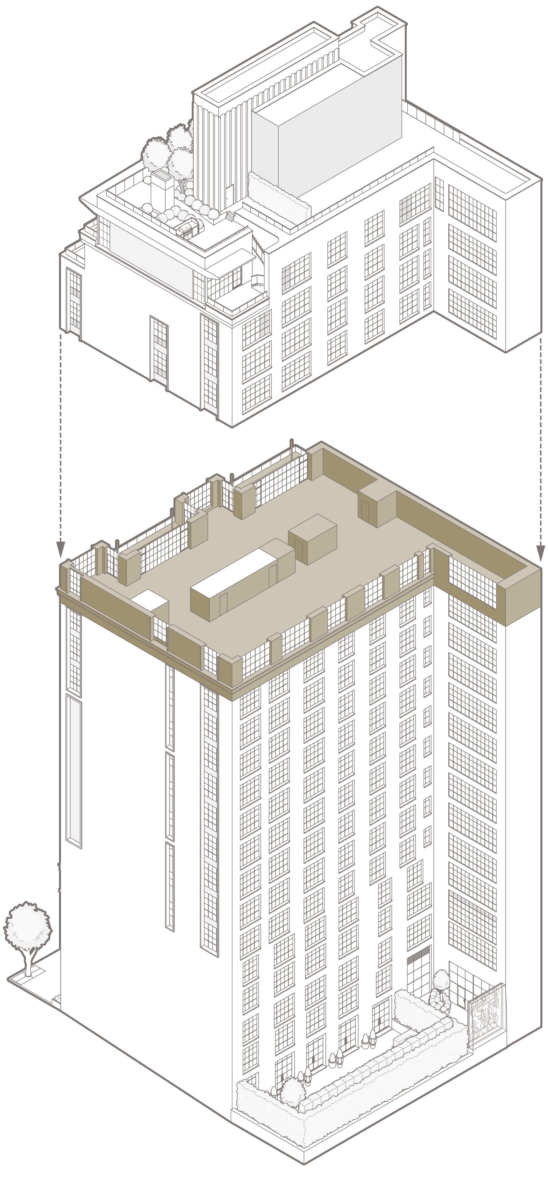 Penthouse 16 – North elevation