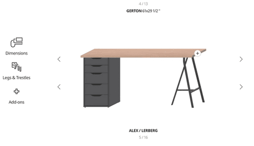 IKEA Build Your Own Desk Tool