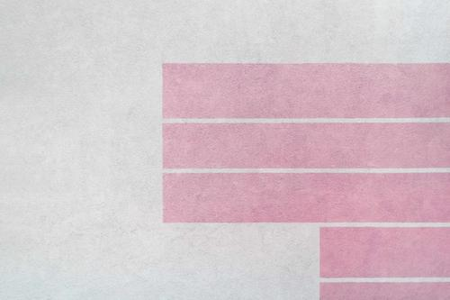 White wall with pink stripes