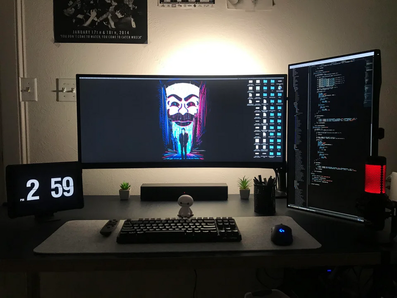 Vertical Monitor Developer Setup