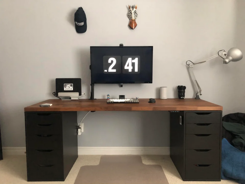 Single Monitor DIY Ikea desk setup