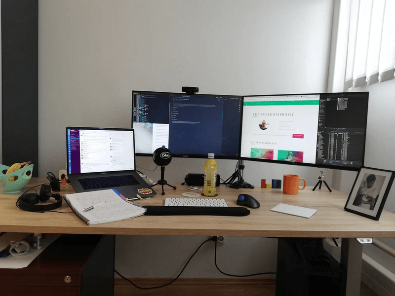 Standing desk developer setup