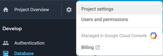 Firebase console > Project settings