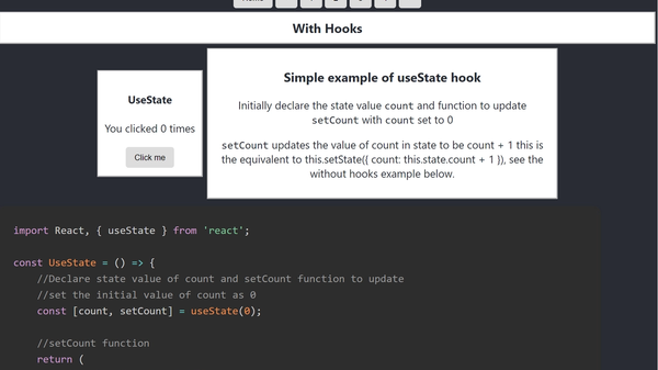 React Hooks Examples