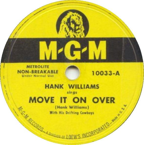 Hank Williams - Move It On Over - Single Cover