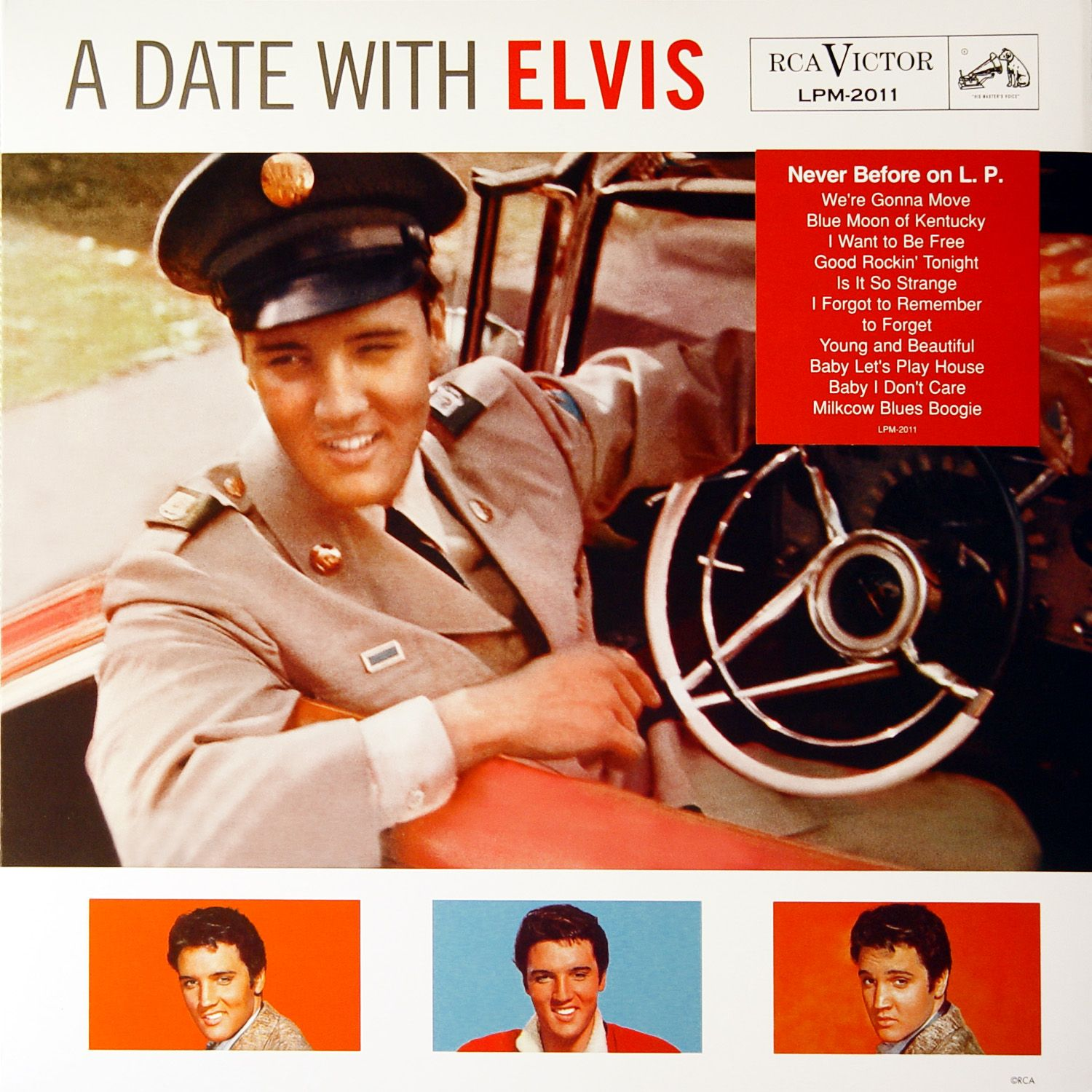 Elvis Presley - A Date With Elvis - Album Cover