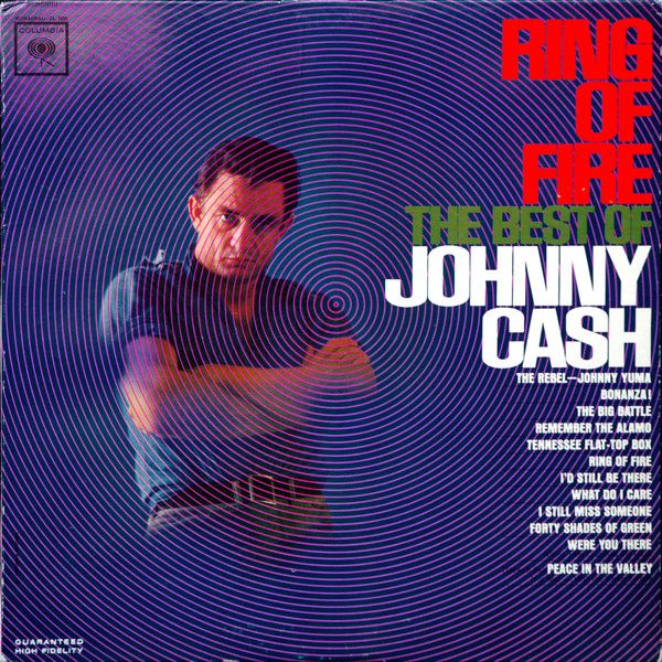 Johnny Cash - Ring Of Fire The Best Of Johnny Cash - Album Cover