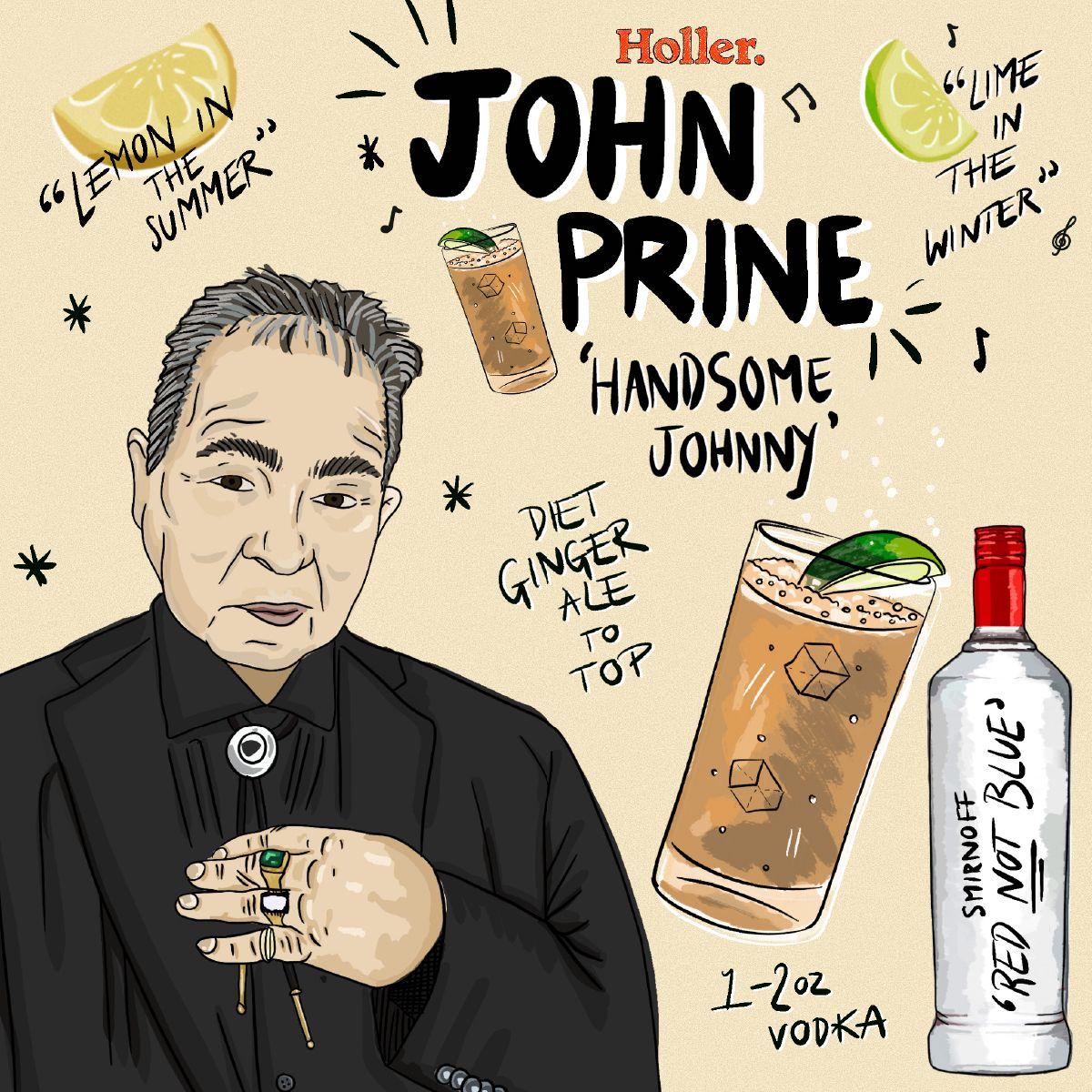 Graphic - John Prine - Holler CC