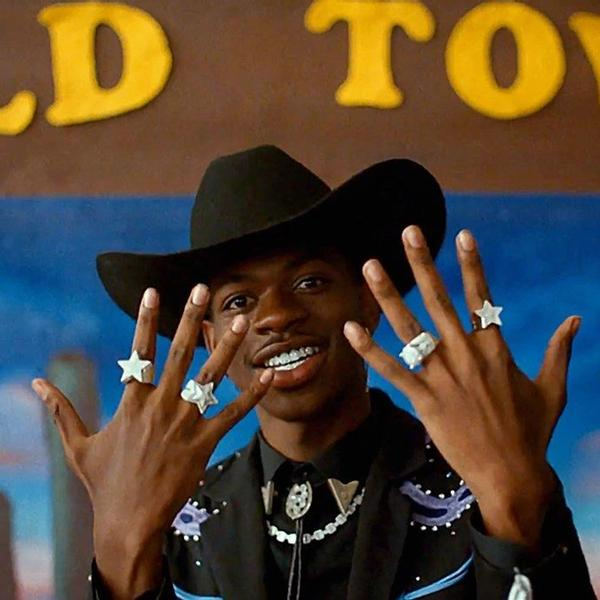 A still from the video for Old Town Road by Lil Nas X & Billy Ray Cyrus