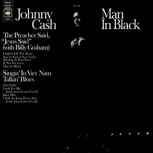 Johnny Cash - Man In Black - Album Cover