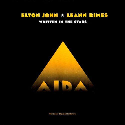 LeAnn Rimes and Elton John - Written in the Stars - Single Cover