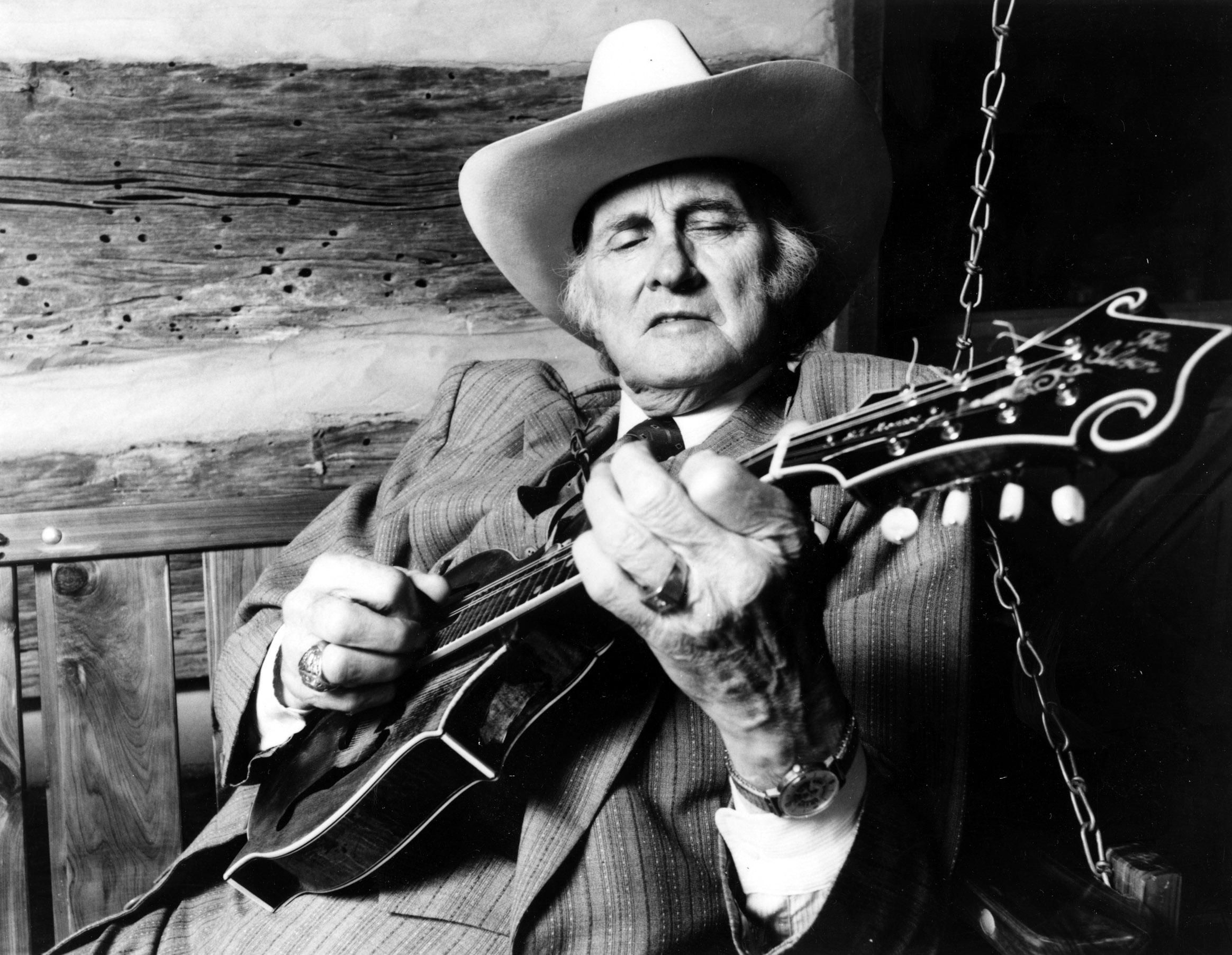 """The father of bluegrass"" Bill Monroe"
