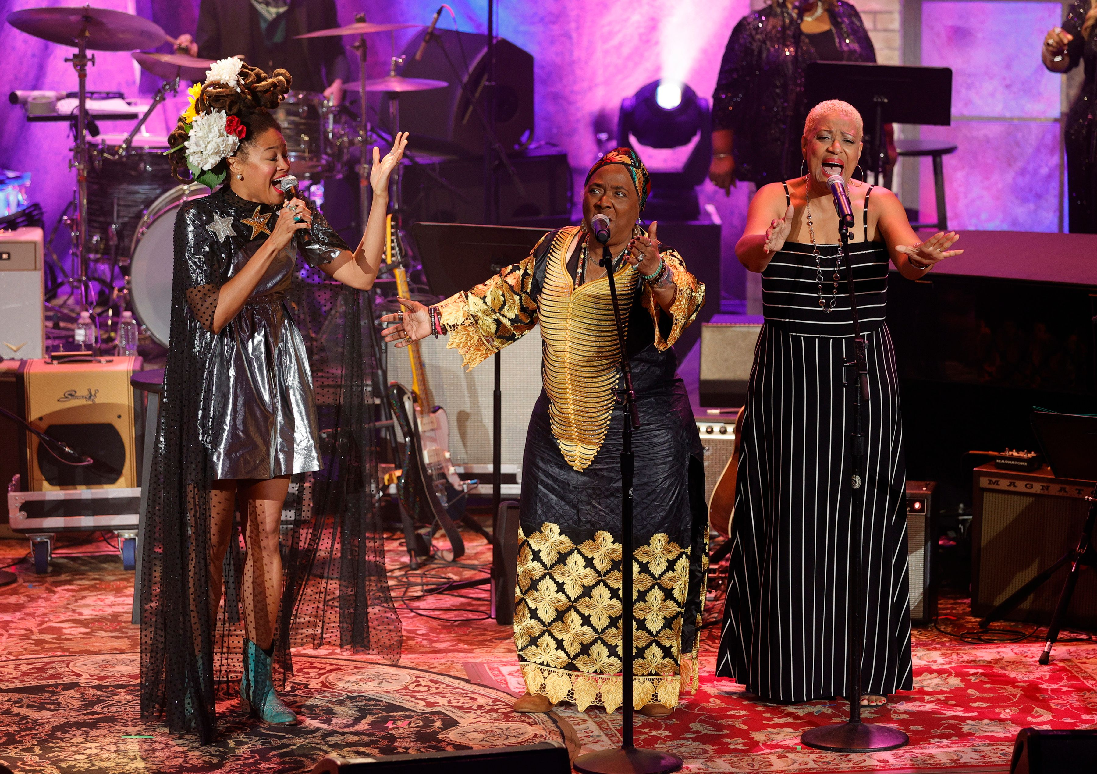 Valerie June, Carla Thomas and Vaneese Thomas by Jason Kempin / Getty Images
