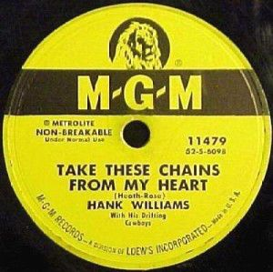 Hank Williams - Take These Chains From My Heart - Single Cover