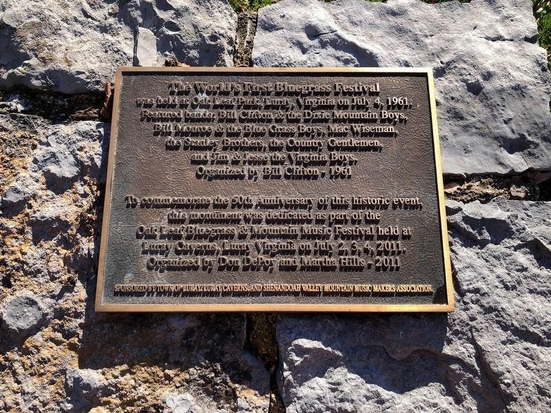 Bluegrass Virginia Plaque