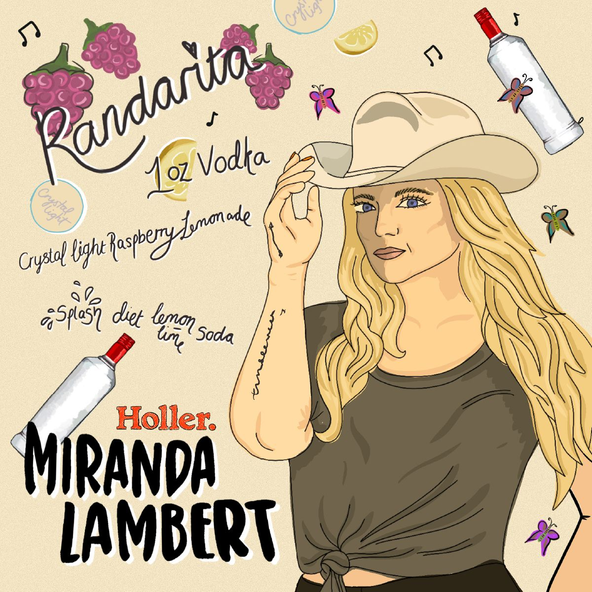 Graphic - Miranda Lambert - Holler CC