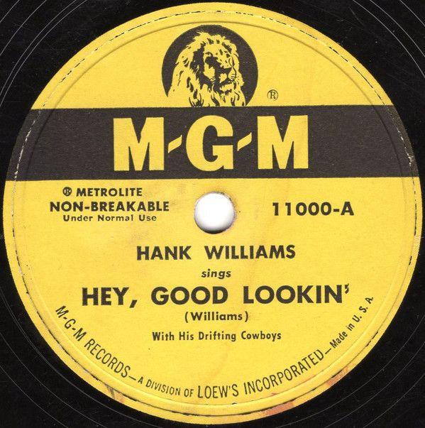 Hank Williams - Hey, Good Lookin' - Single Cover