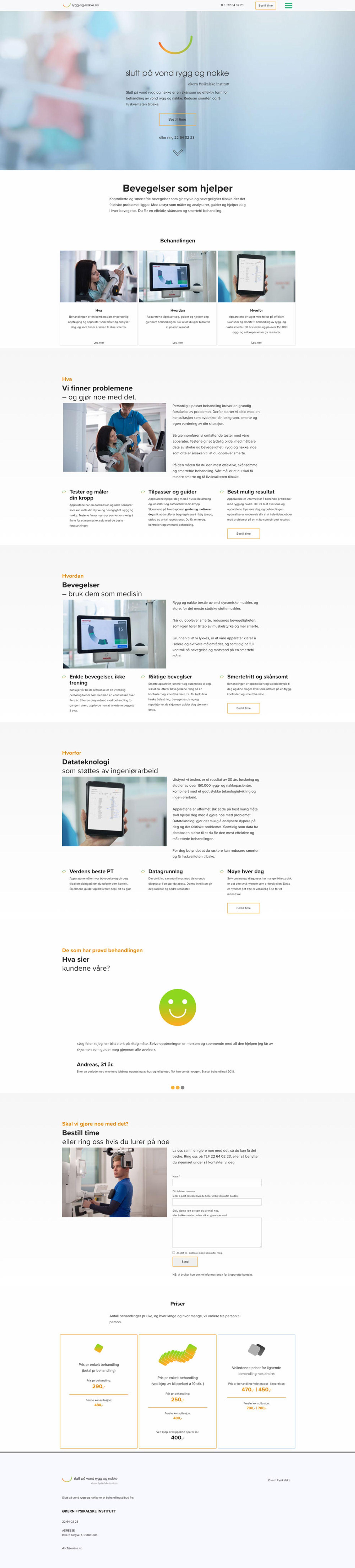 Fullpage skjermdump av rygg-og-nakke.no