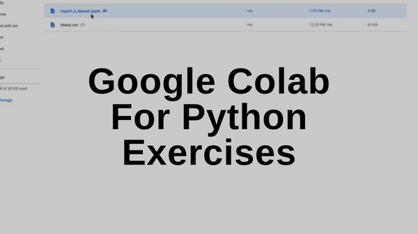 Google Colab For Python Exercises