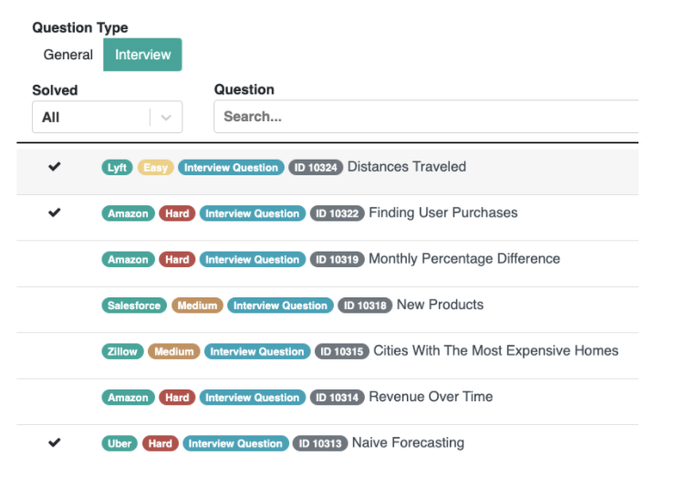 Real Data Science Questions from Real Companies