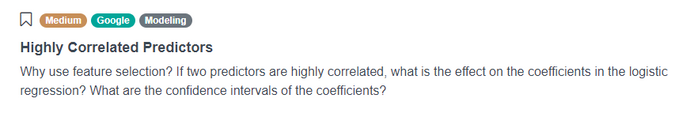 Google Data Scientist Interview Question for Highly Correlated Predictors