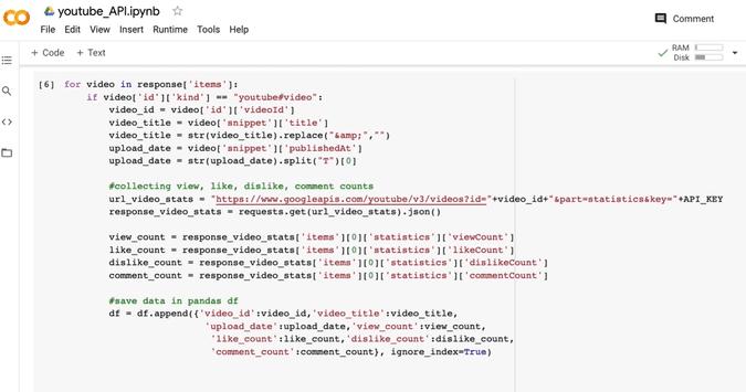 Python API for data science output of a pandas dataframe