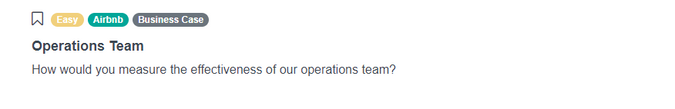 Airbnb Data Scientist Interview Question for Operations Team