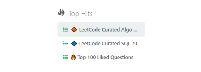LeetCode Top Hits for Data Science