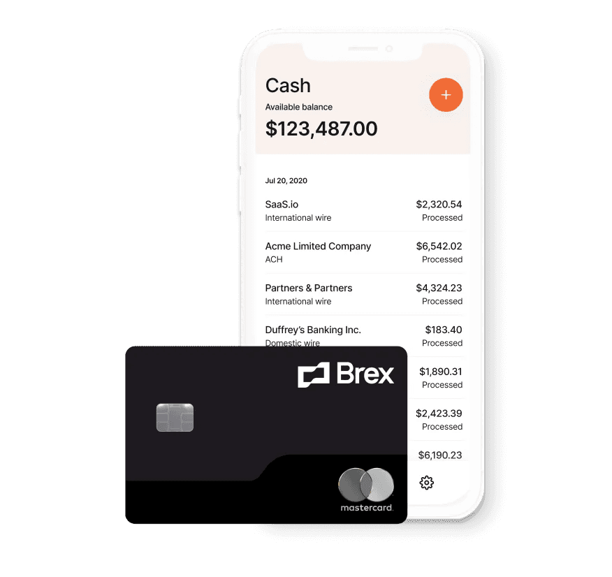 Brex cash and credit card for startups