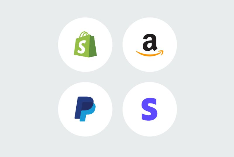 Instant payouts from Shopify, Amazon, Paypal or Stripe