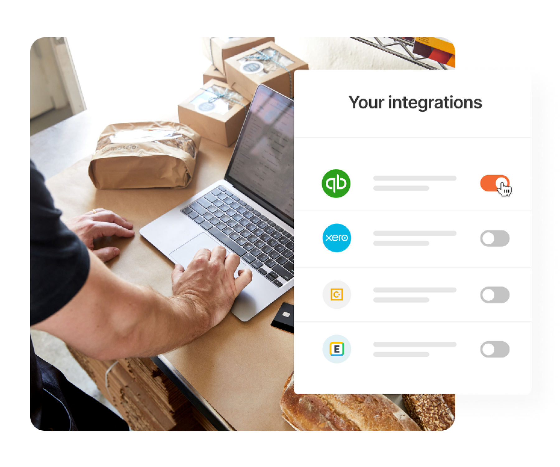 Brex integrates with your favorite software.