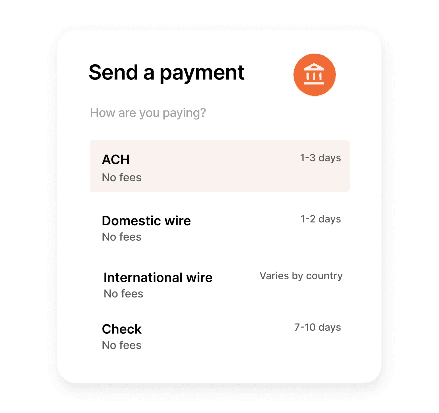 Brex cash instant payouts ach and wire transfer feature