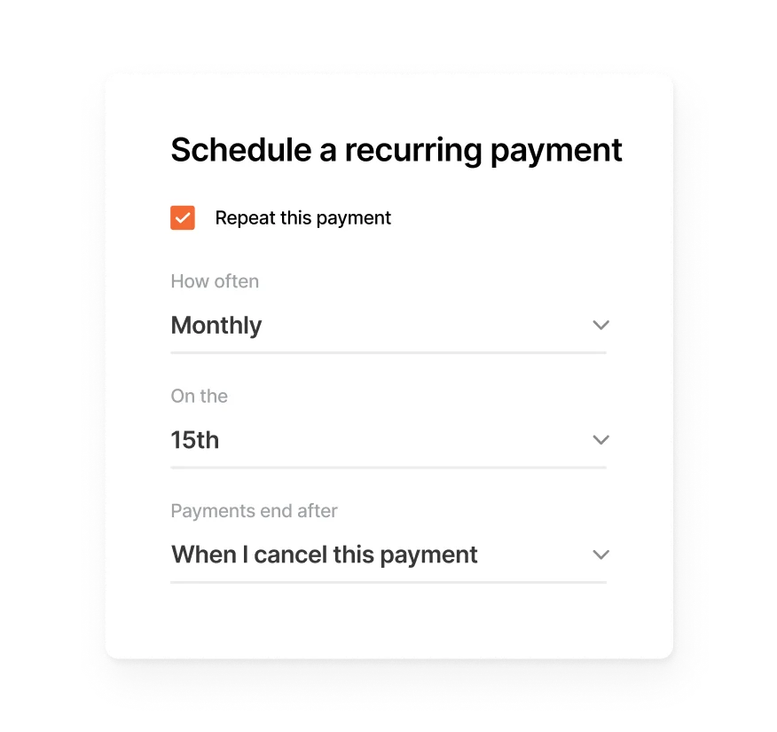 Brex cash recurring payments