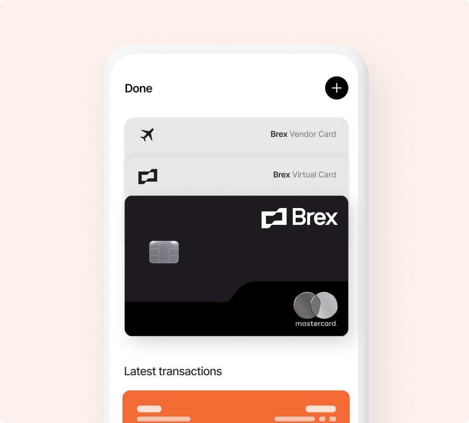 Brex on your phone.
