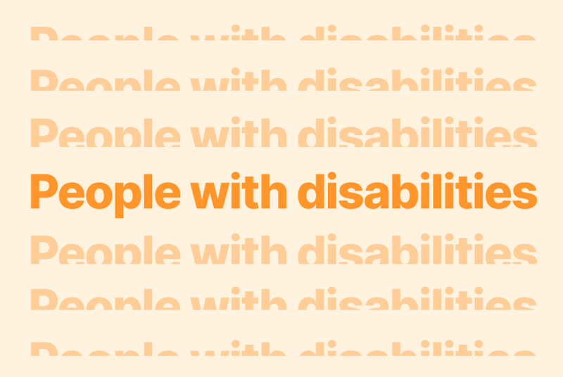 People with disabilities.