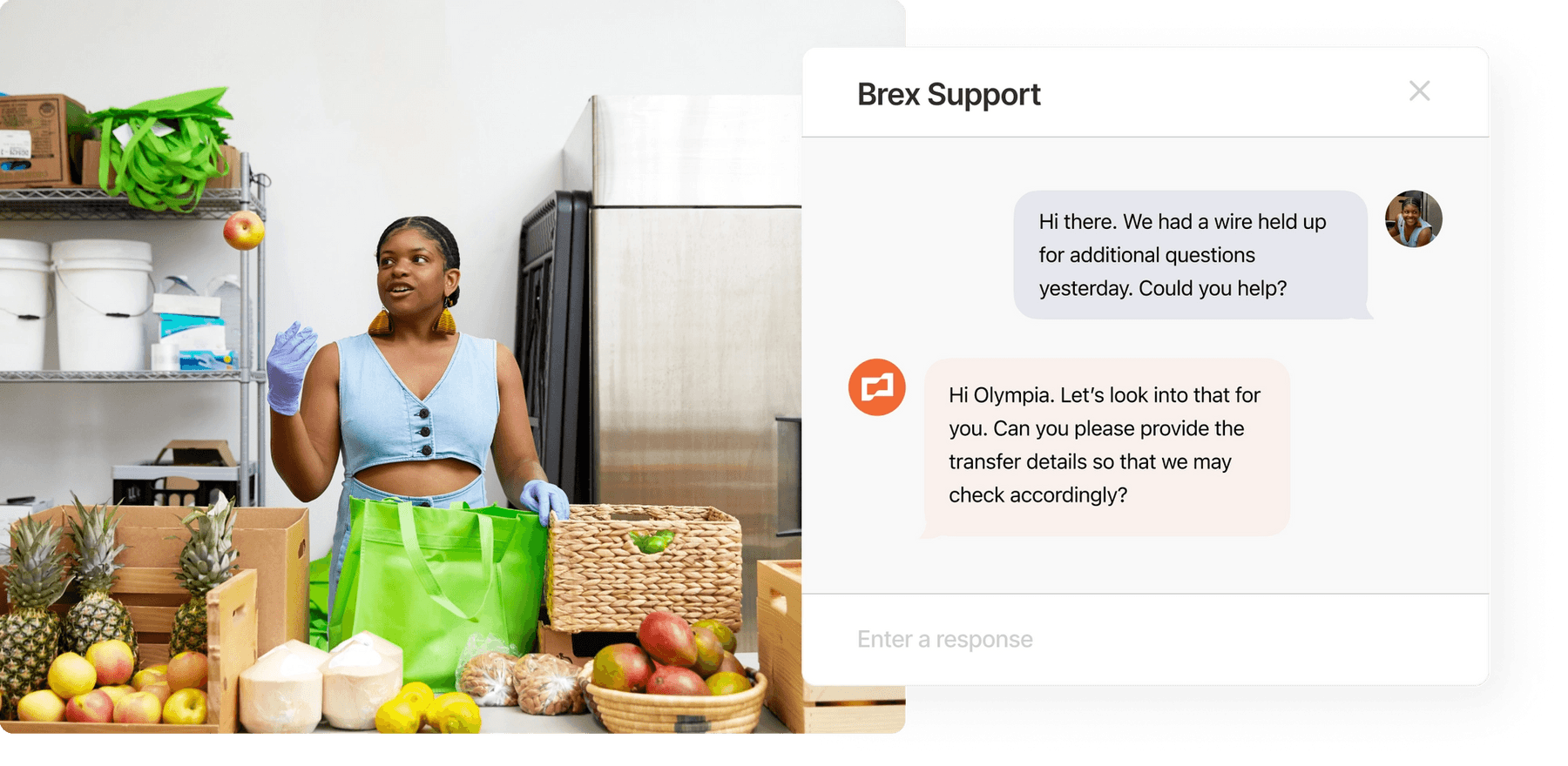 Chat with Brex Support