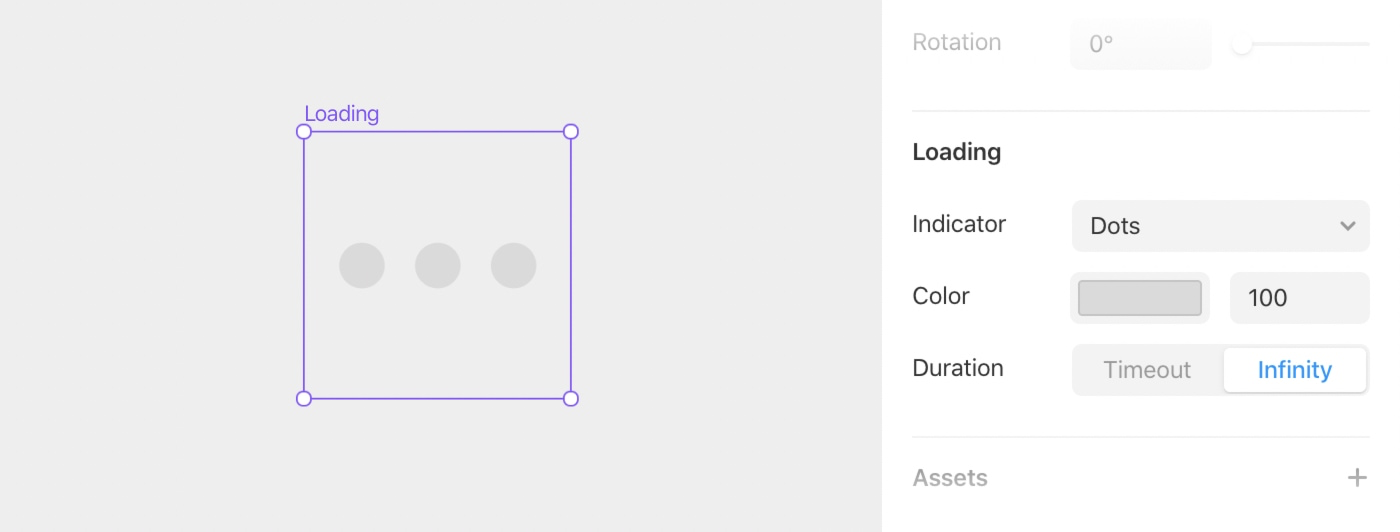 The loading component