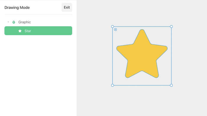 Draw a custom icon with the Graphic tool