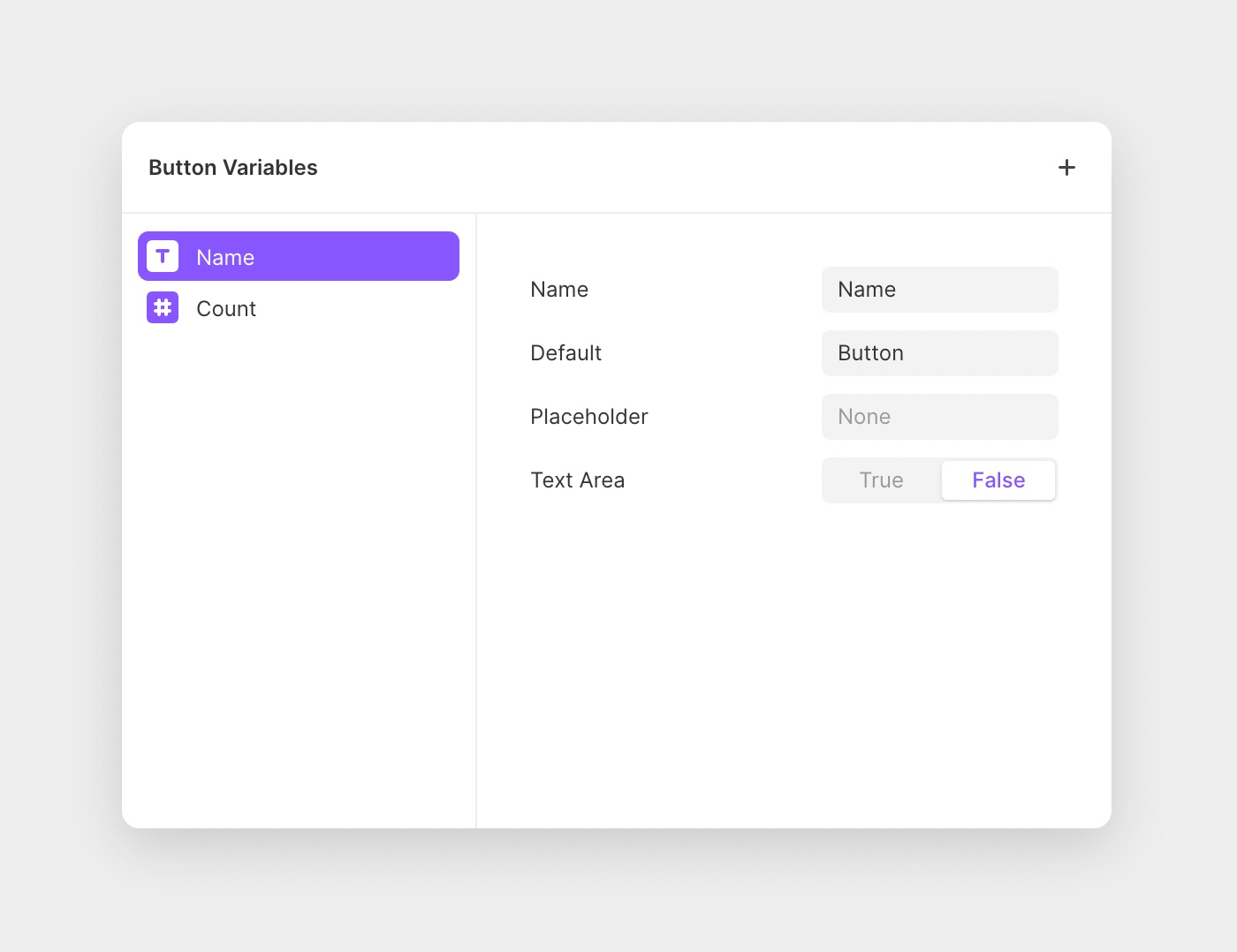 Enable customizability of your component by adding variables