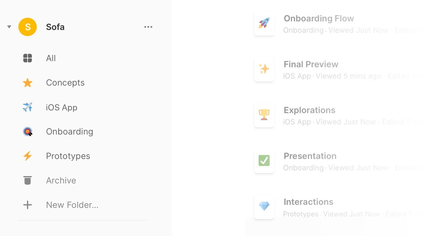 Framer web dashboard