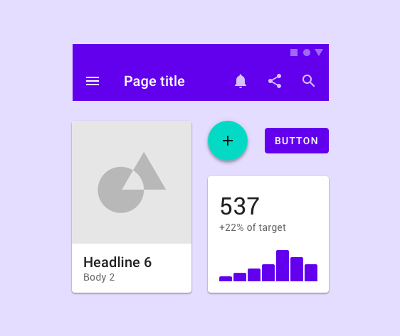 Template preview of Material UI Kit