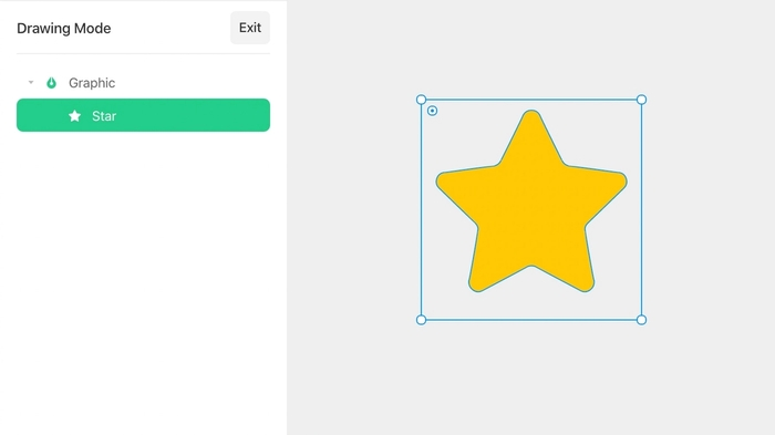 Convert an Icon into a Graphic layer by double clicking