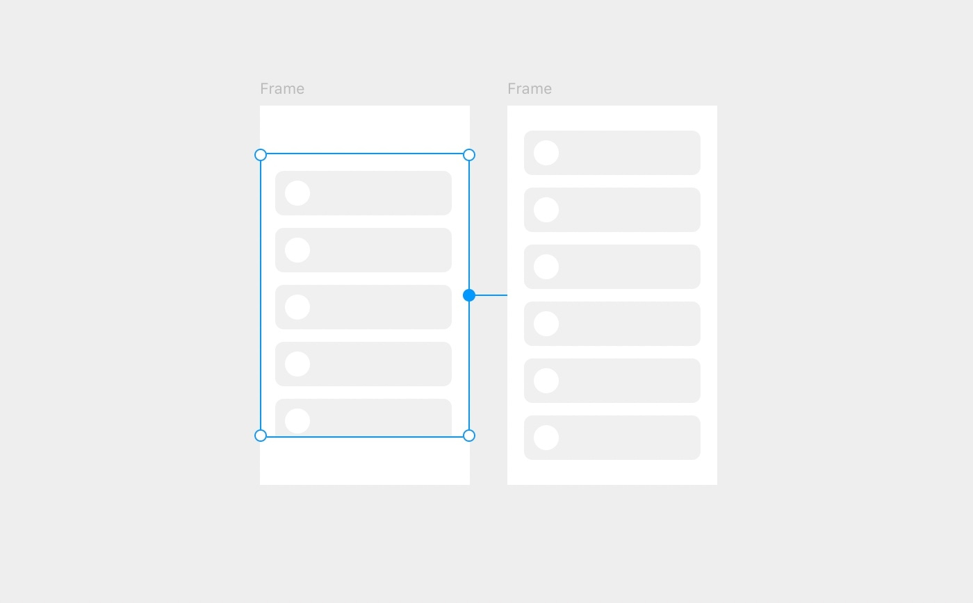 Connect Scroll to a second layer that the Scroll will display