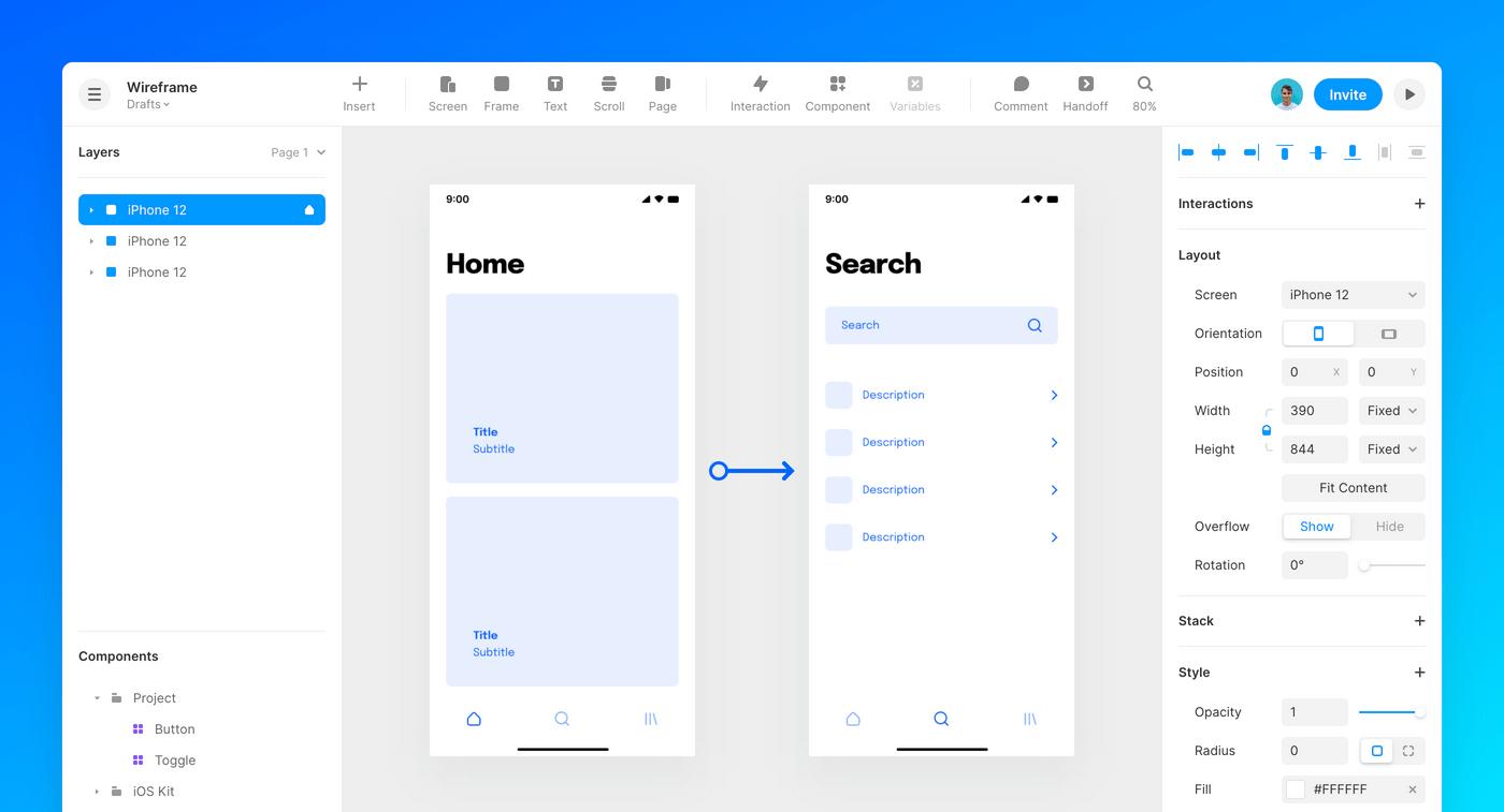 Framer interface