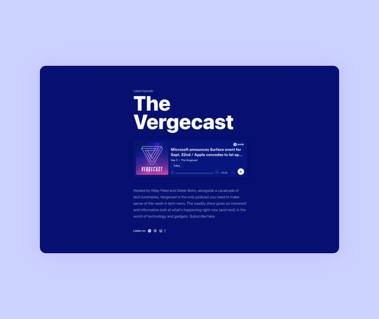 Template preview of Podcast