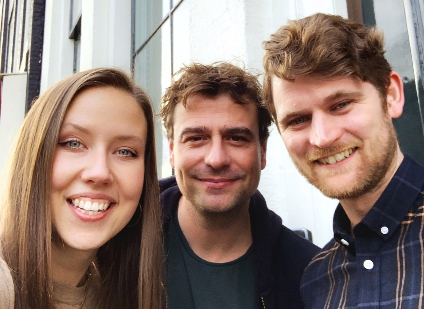 From left to right: Framer's newest team members, Kait Creamer, Lennart Paasse, and Ed Mortlock.