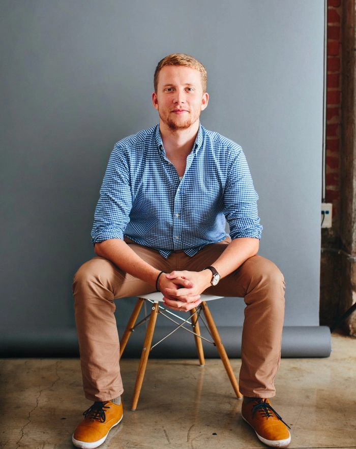 Zach, during his time at Designer Fund's Bridge program.