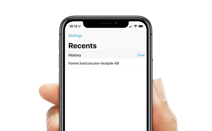 Find the copied link under the Recents tab.